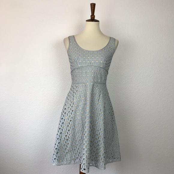 LOFT Dresses & Skirts - Ann Taylor Loft Eyelet Cotton Fit Flare Dress D693